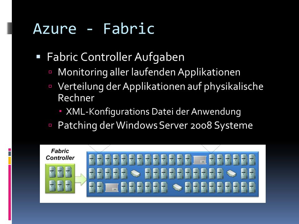 Azure - Fabric Fabric Controller Aufgaben
