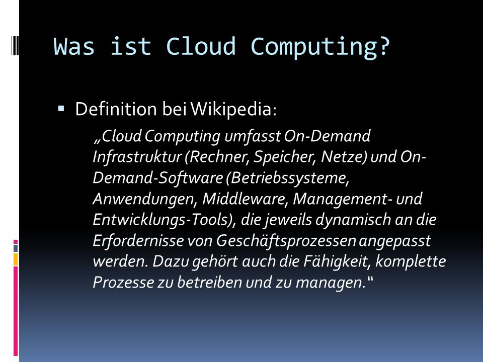 Was ist Cloud Computing
