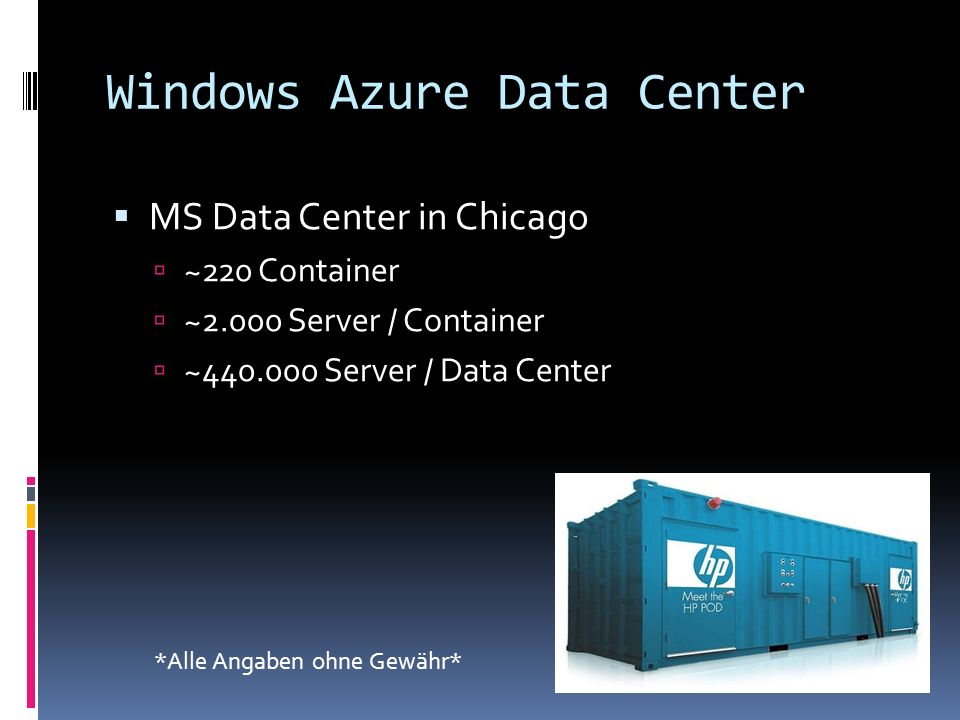 Windows Azure Data Center