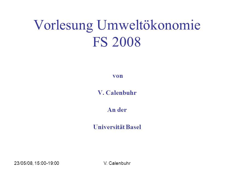 Vorlesung Umweltökonomie FS 2008