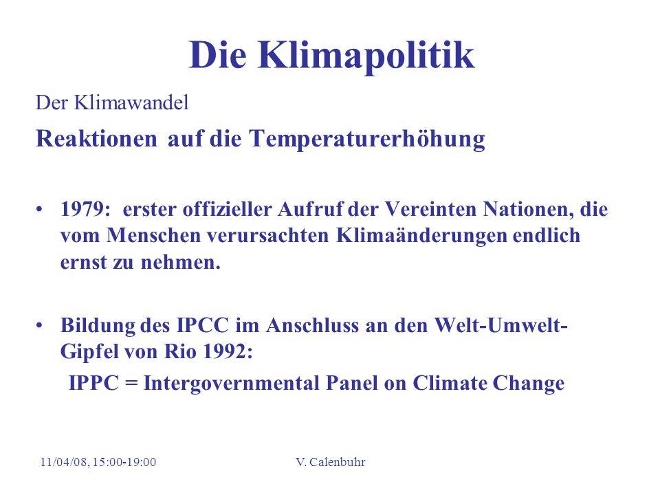 Die Klimapolitik Reaktionen auf die Temperaturerhöhung Der Klimawandel