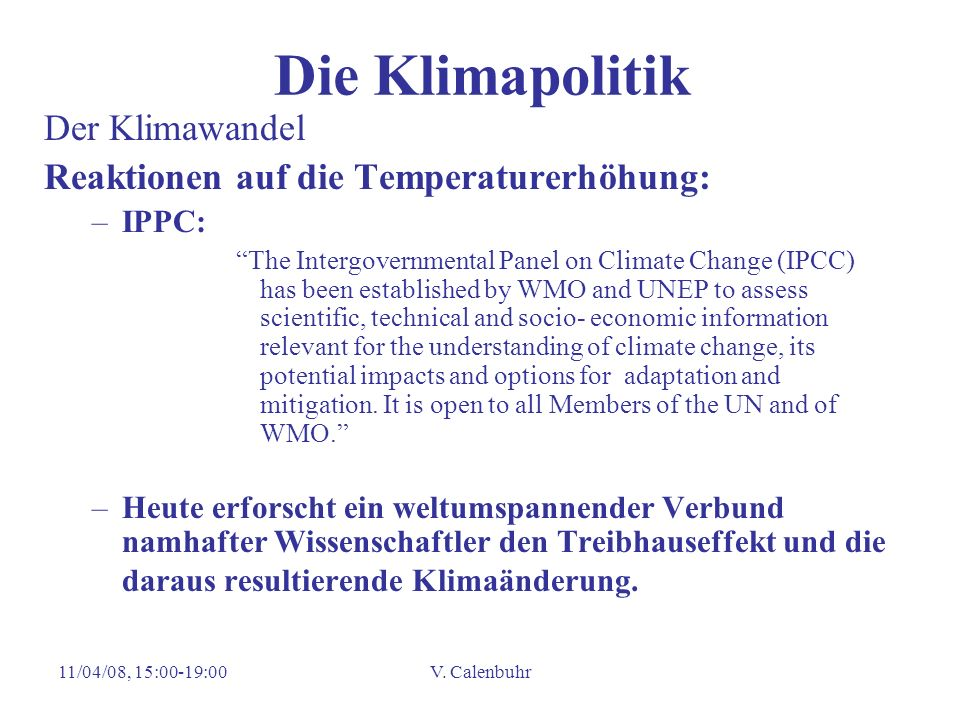Die Klimapolitik Der Klimawandel