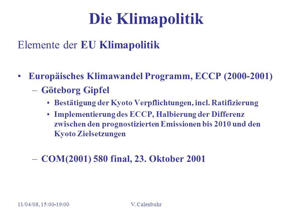 Die Klimapolitik Elemente der EU Klimapolitik