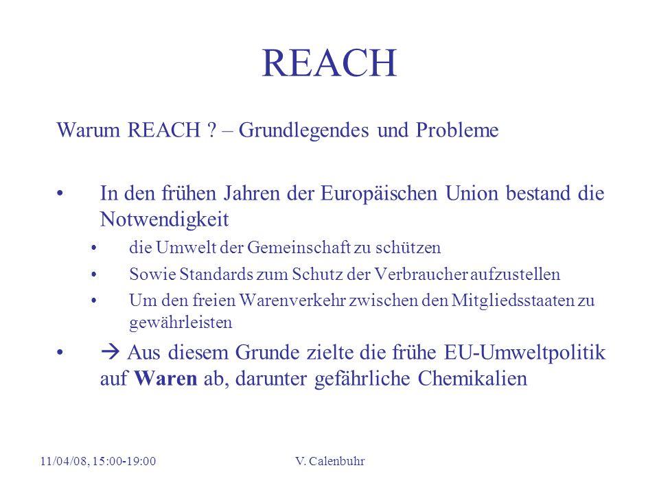 REACH Warum REACH – Grundlegendes und Probleme