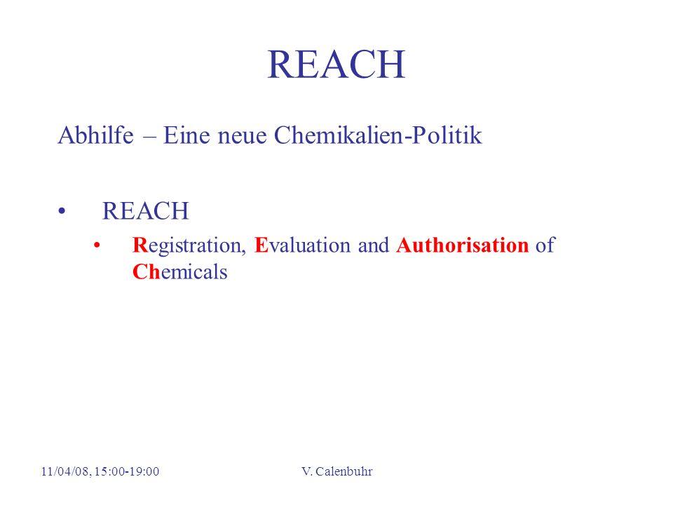 REACH Abhilfe – Eine neue Chemikalien-Politik REACH