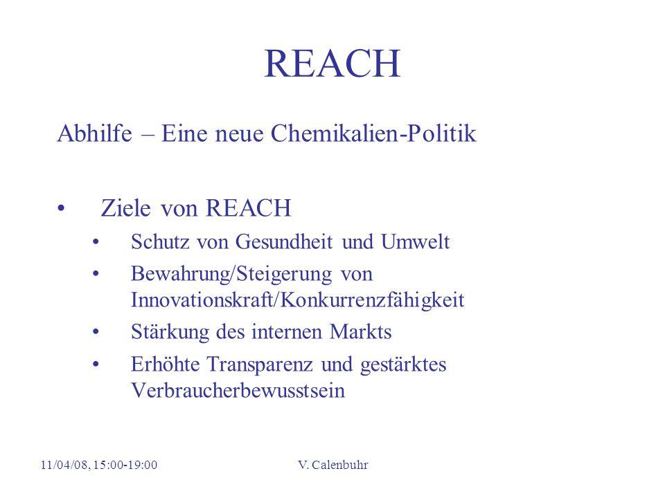 REACH Abhilfe – Eine neue Chemikalien-Politik Ziele von REACH