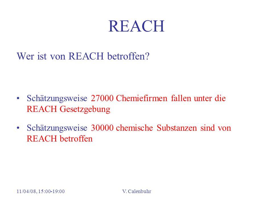 REACH Wer ist von REACH betroffen