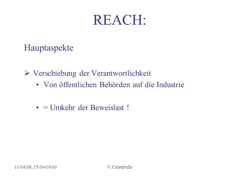 REACH: Hauptaspekte Verschiebung der Verantwortlichkeit