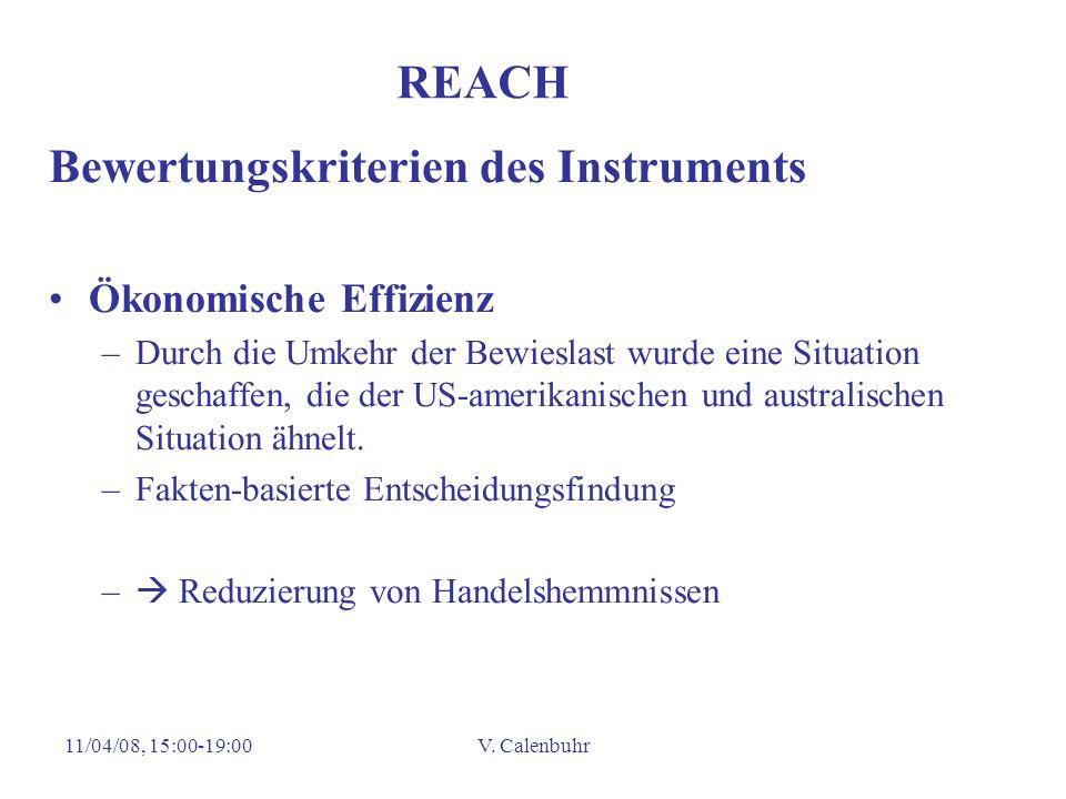 Bewertungskriterien des Instruments