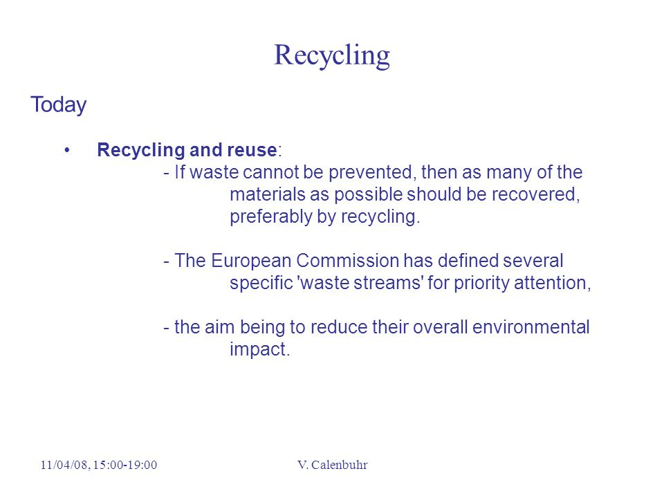 Recycling Today Recycling and reuse: