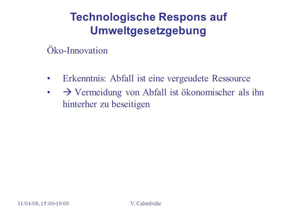 Technologische Respons auf Umweltgesetzgebung