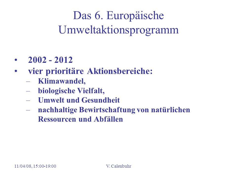 Das 6. Europäische Umweltaktionsprogramm
