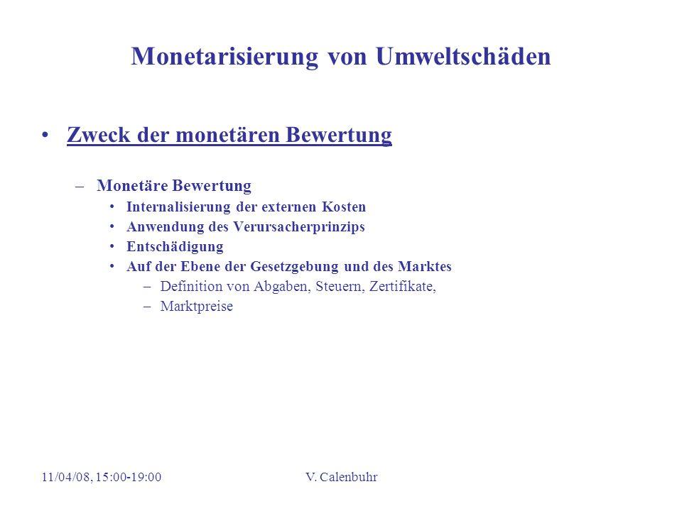 Monetarisierung von Umweltschäden