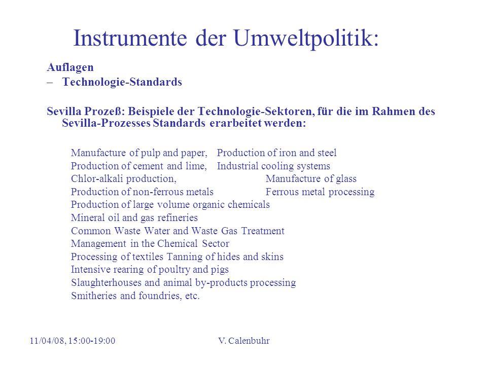 Instrumente der Umweltpolitik: