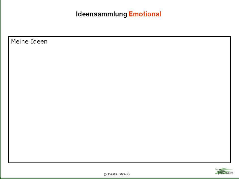 Ideensammlung Emotional