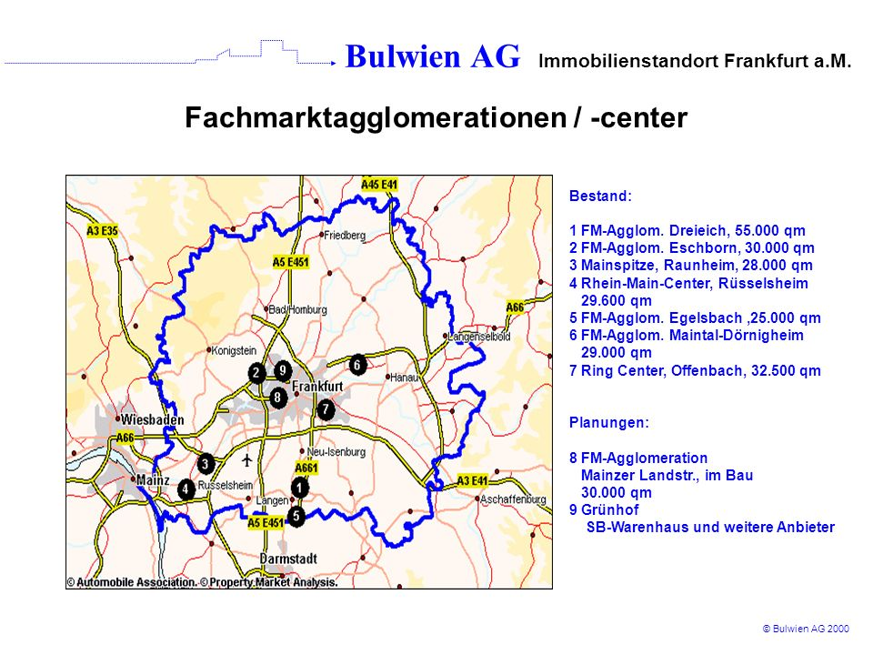 Fachmarktagglomerationen / -center