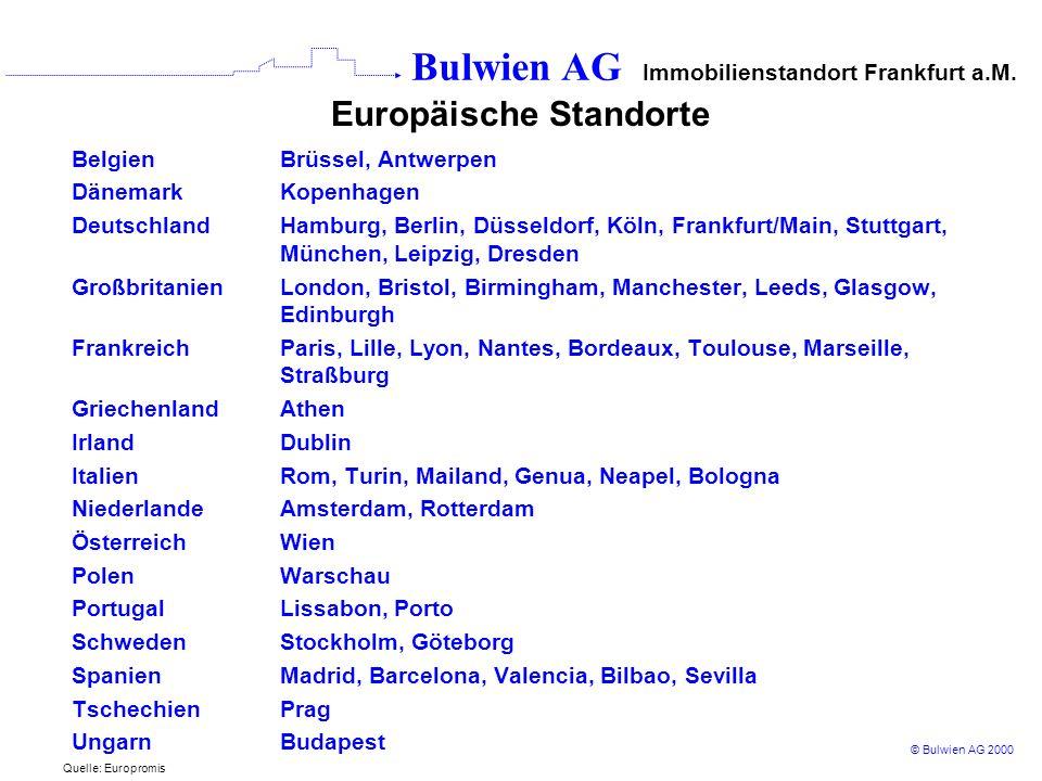 Europäische Standorte