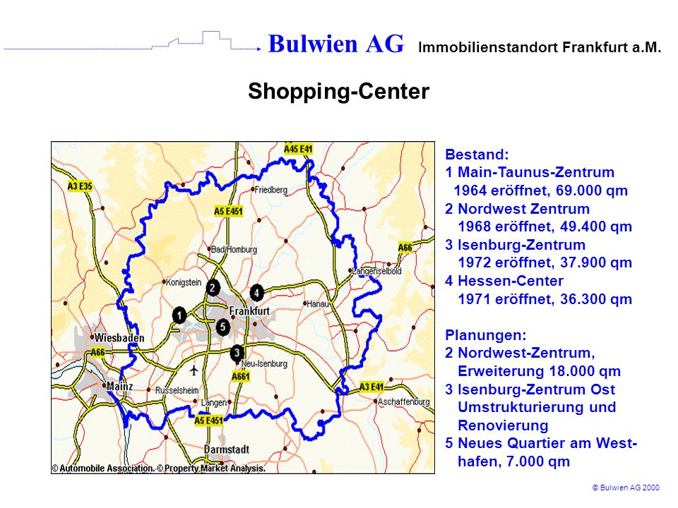 Shopping-Center Bestand: 1 Main-Taunus-Zentrum