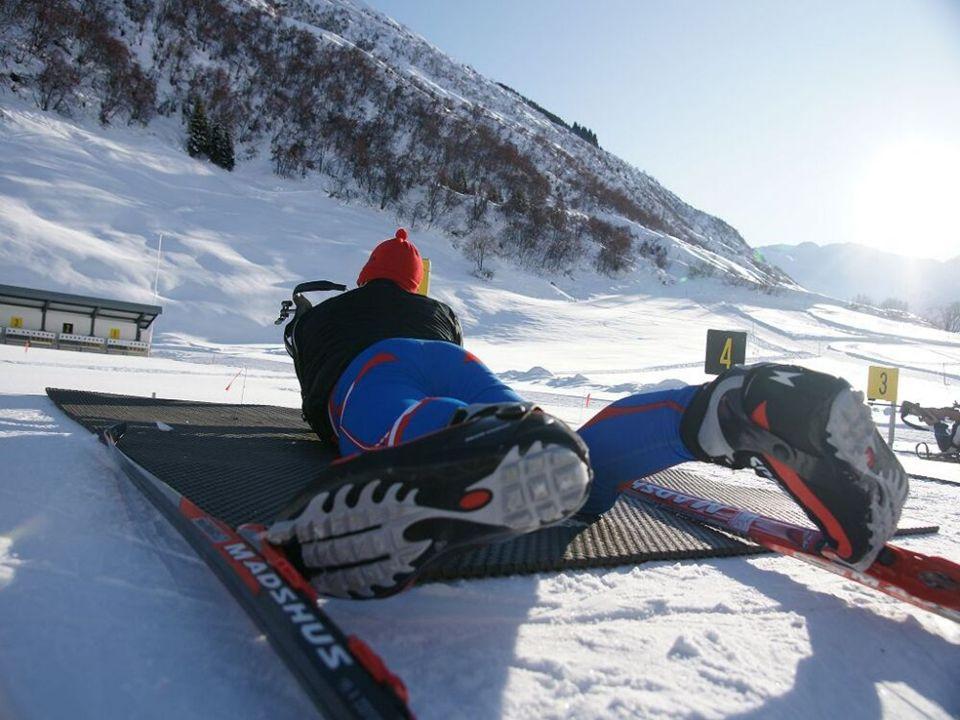 Biathlon auf der 50 Meter Schiessanlage von Realp