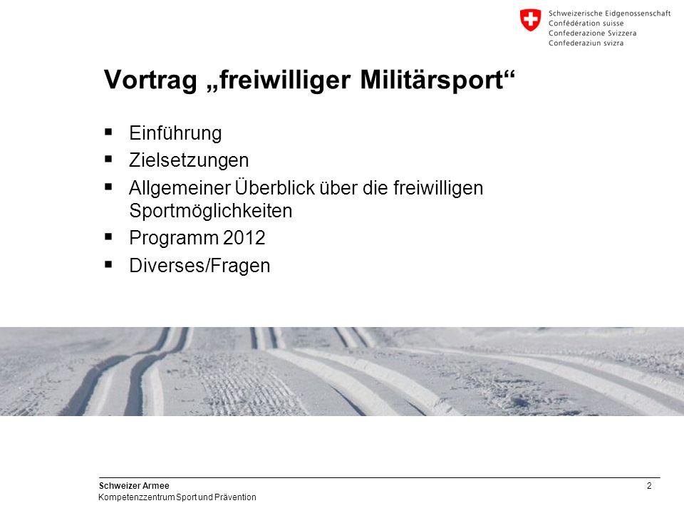 """Vortrag """"freiwilliger Militärsport"""