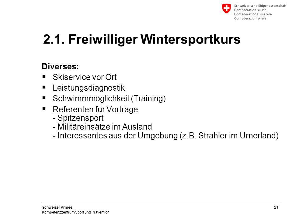 2.1. Freiwilliger Wintersportkurs