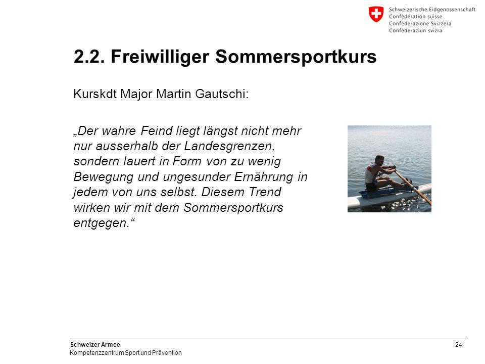 2.2. Freiwilliger Sommersportkurs
