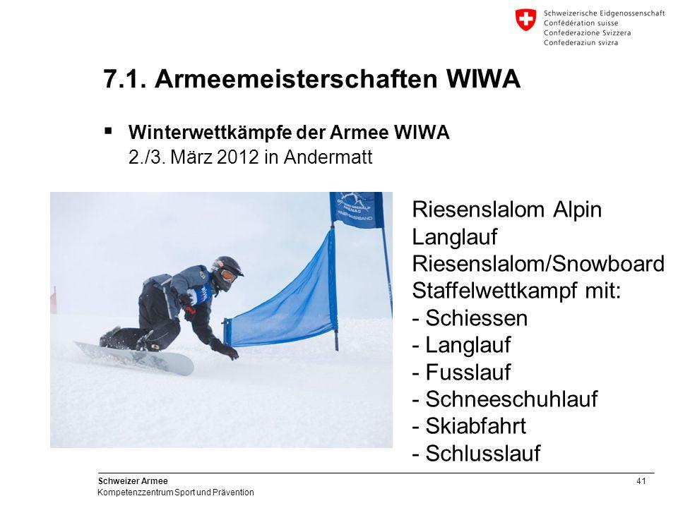 7.1. Armeemeisterschaften WIWA