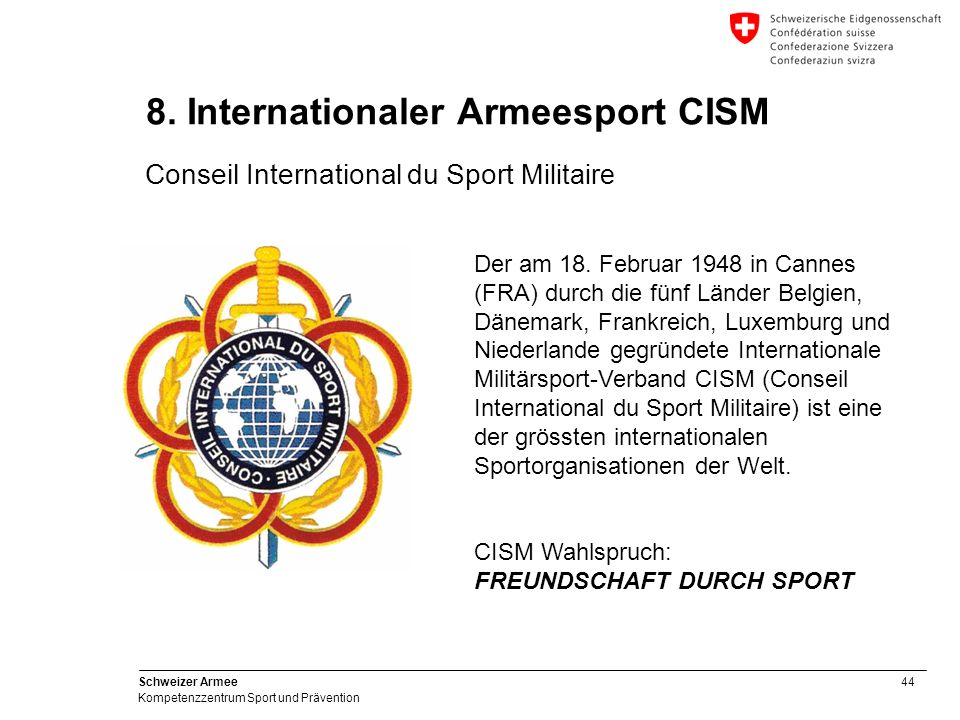 8. Internationaler Armeesport CISM