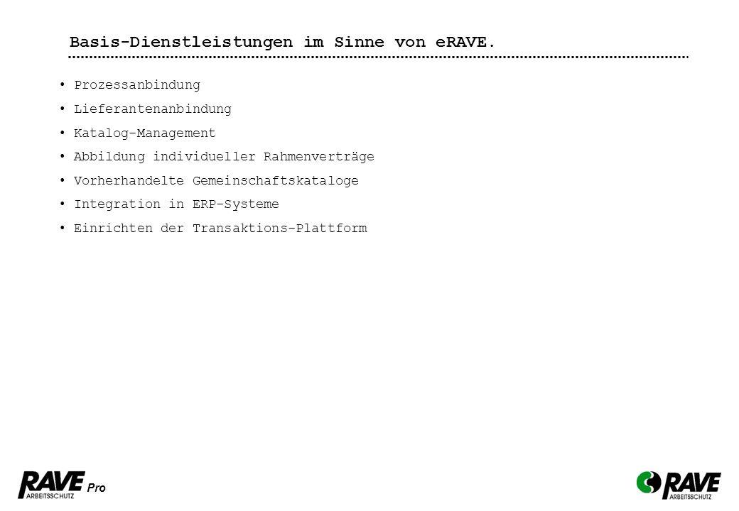Basis-Dienstleistungen im Sinne von eRAVE.