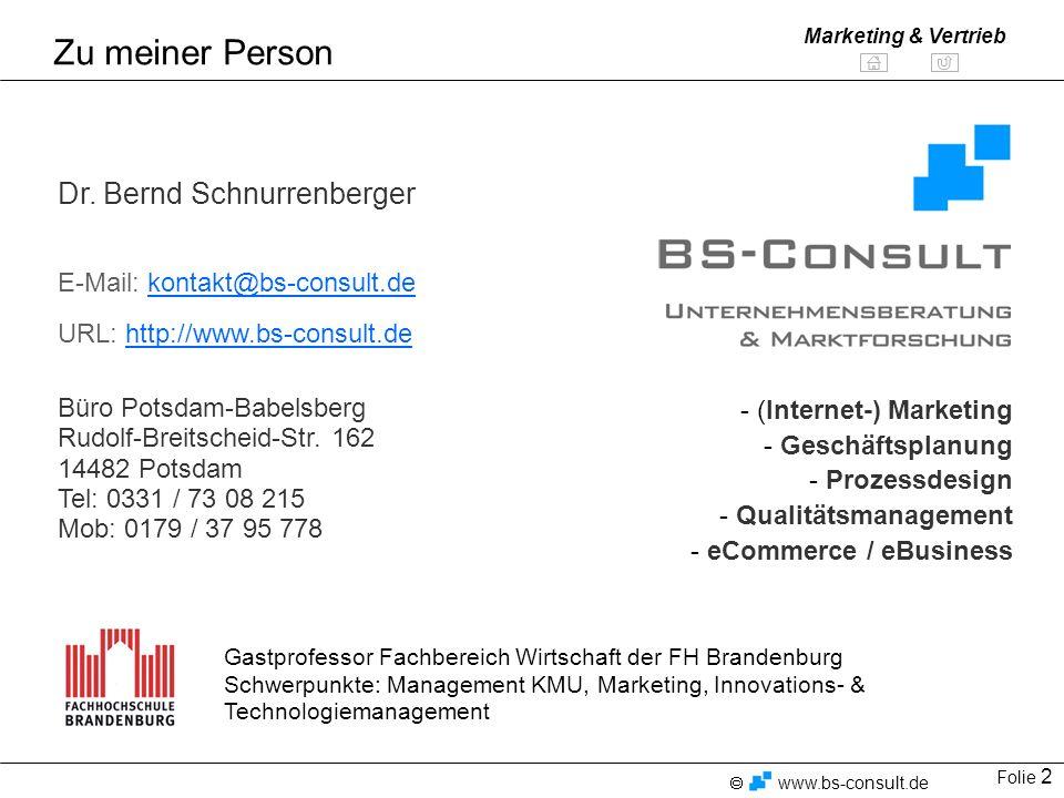 Zu meiner Person Dr. Bernd Schnurrenberger