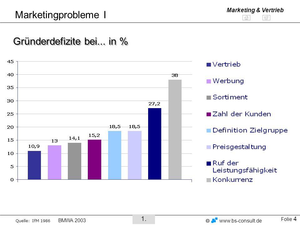 Gründerdefizite bei... in %