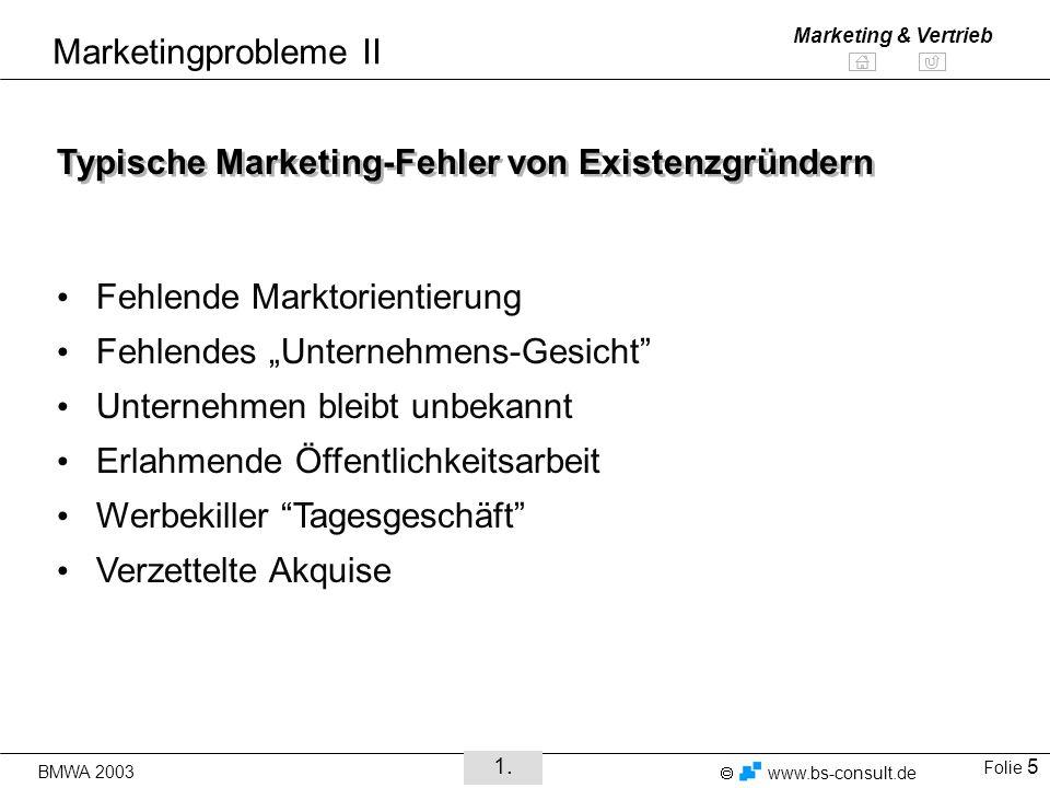 Typische Marketing-Fehler von Existenzgründern