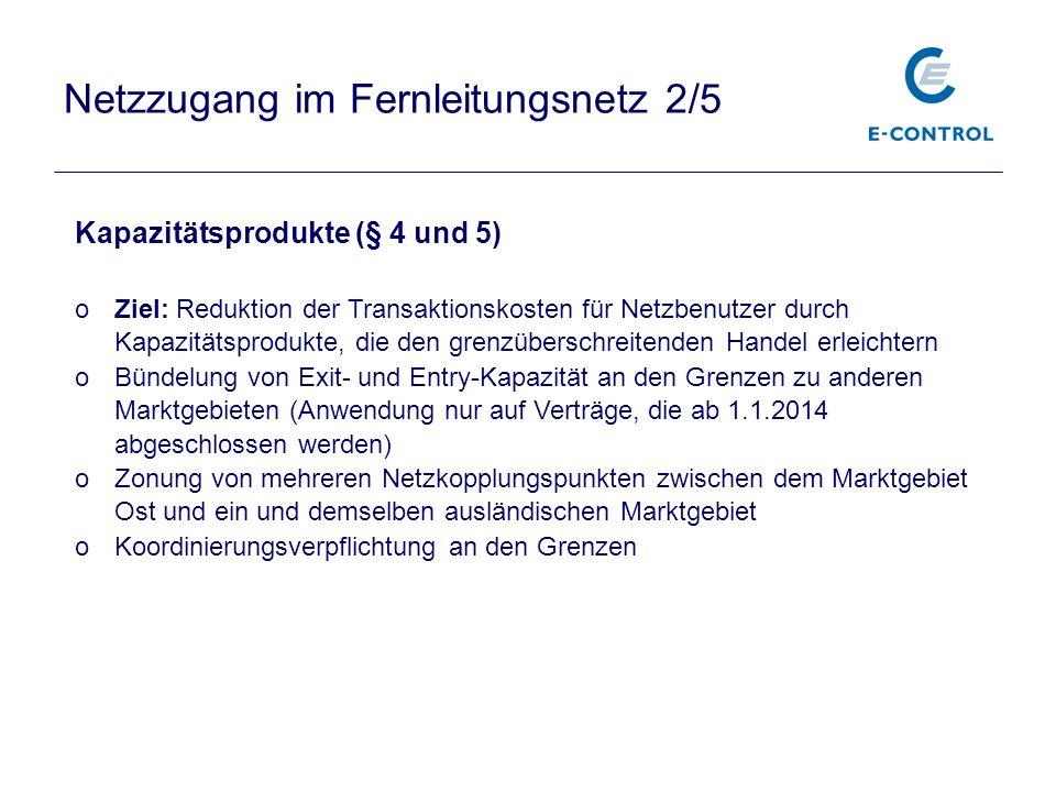 Netzzugang im Fernleitungsnetz 2/5