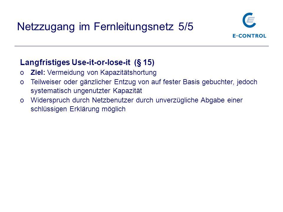 Netzzugang im Fernleitungsnetz 5/5