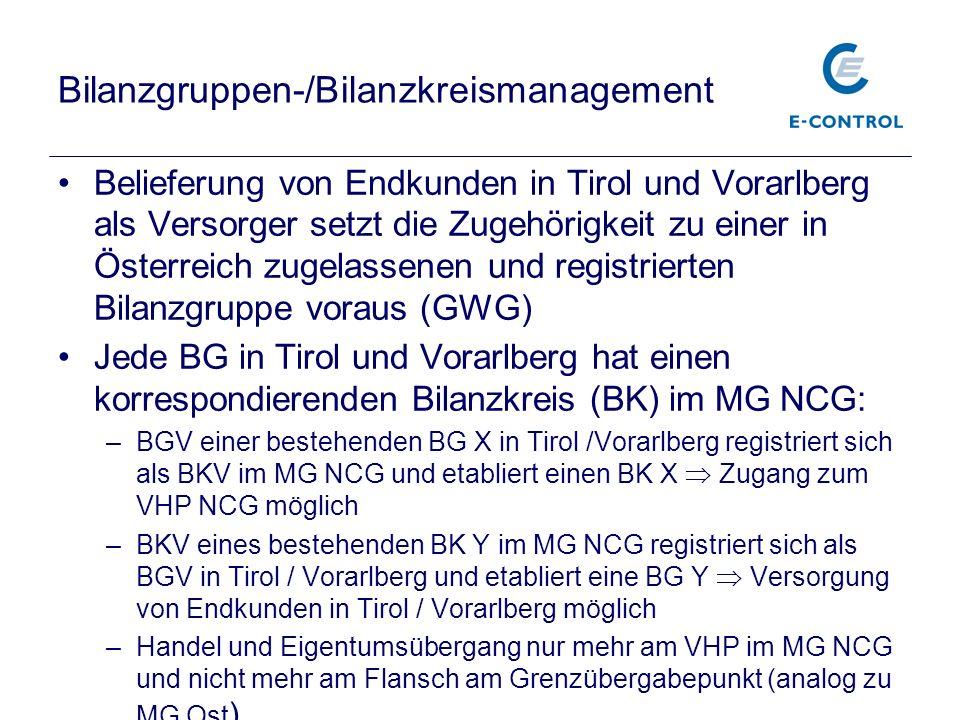 Bilanzgruppen-/Bilanzkreismanagement
