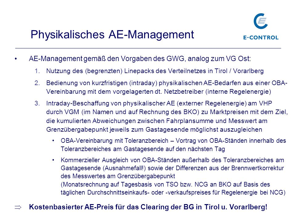 Physikalisches AE-Management