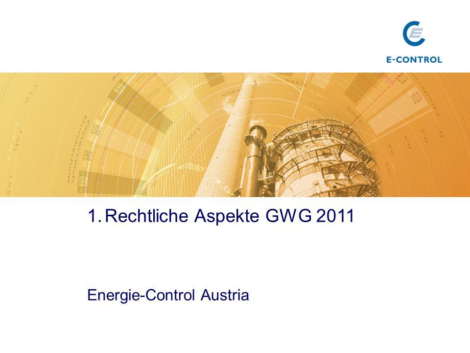 Rechtliche Aspekte GWG 2011