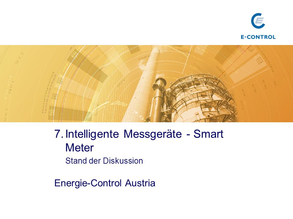Intelligente Messgeräte - Smart Meter