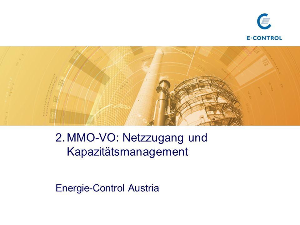 MMO-VO: Netzzugang und Kapazitätsmanagement
