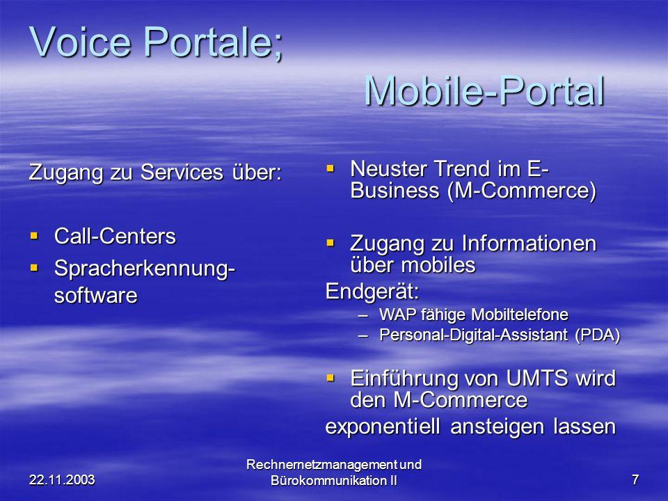 Voice Portale; Mobile-Portal