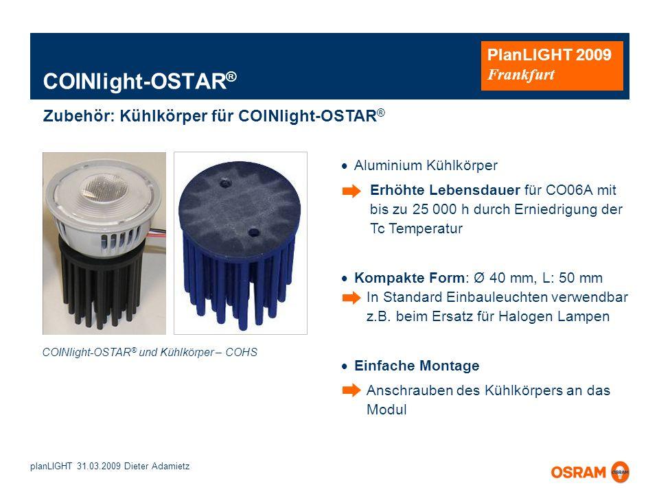 COINlight-OSTAR® Zubehör: Kühlkörper für COINlight-OSTAR®