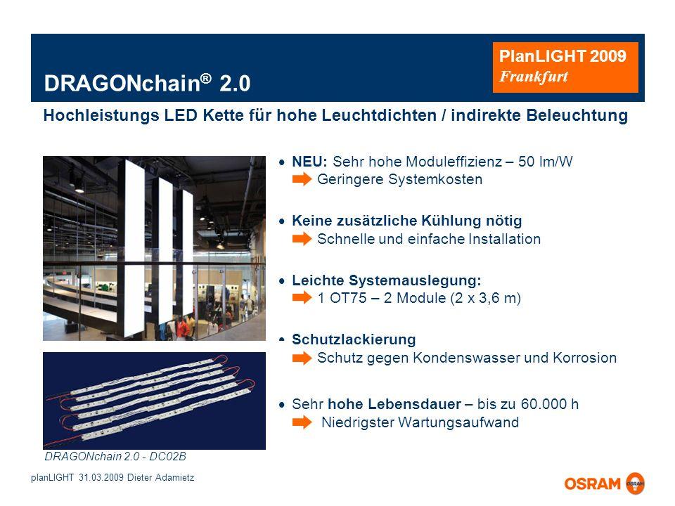 DRAGONchain® 2.0 Hochleistungs LED Kette für hohe Leuchtdichten / indirekte Beleuchtung.