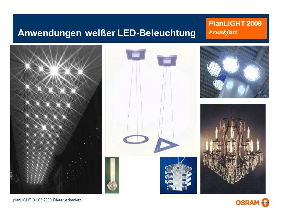 Anwendungen weißer LED-Beleuchtung