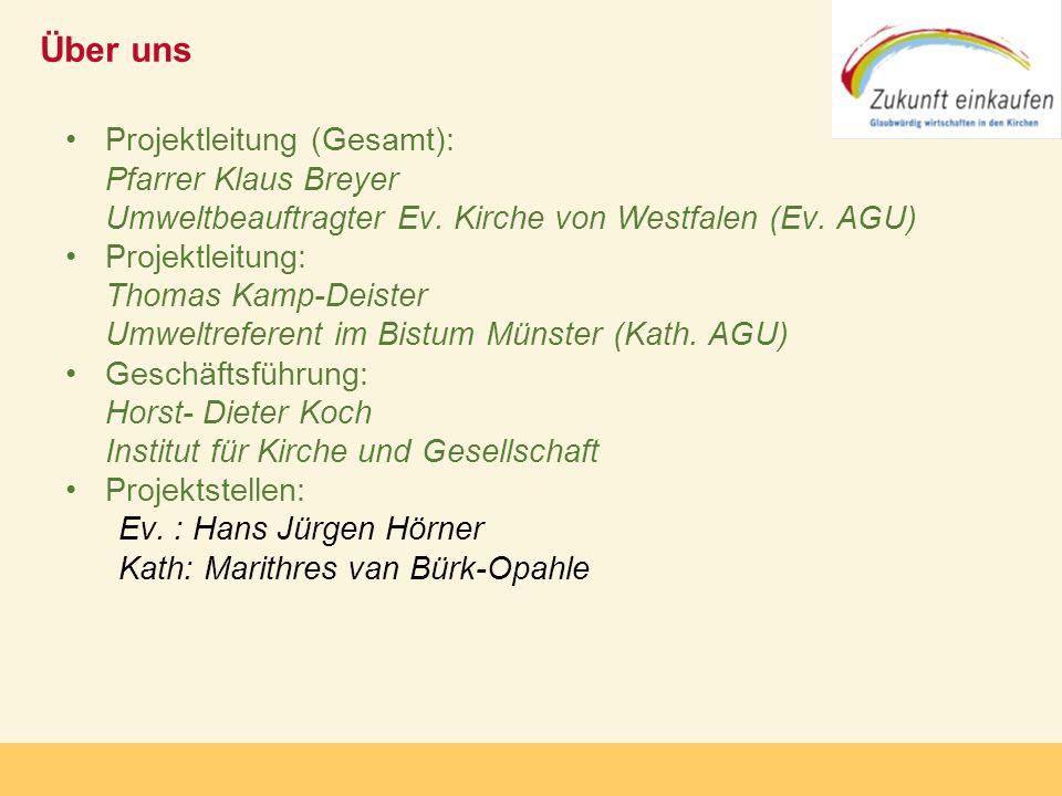 Über uns Projektleitung (Gesamt): Pfarrer Klaus Breyer