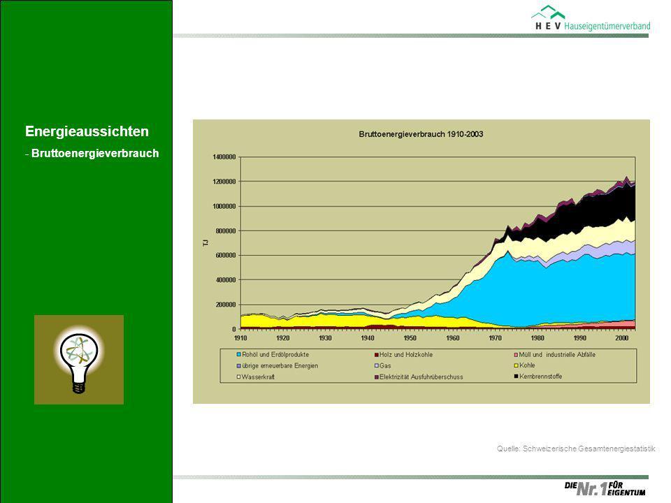 Quelle: Schweizerische Gesamtenergiestatistik