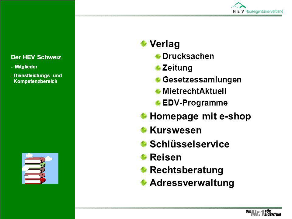 Verlag Homepage mit e-shop Kurswesen Schlüsselservice Reisen