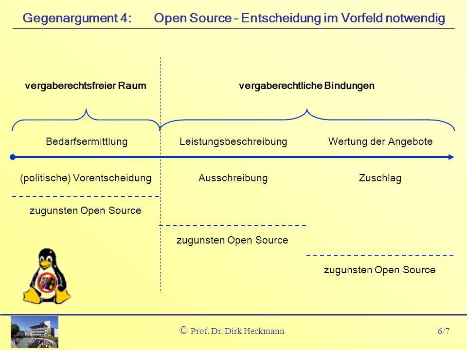 Open Source – Entscheidung im Vorfeld notwendig