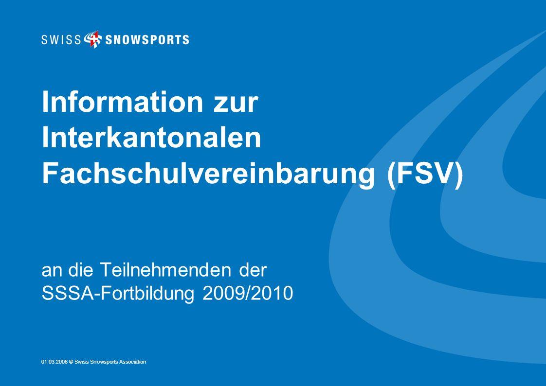 Information zur Interkantonalen Fachschulvereinbarung (FSV)