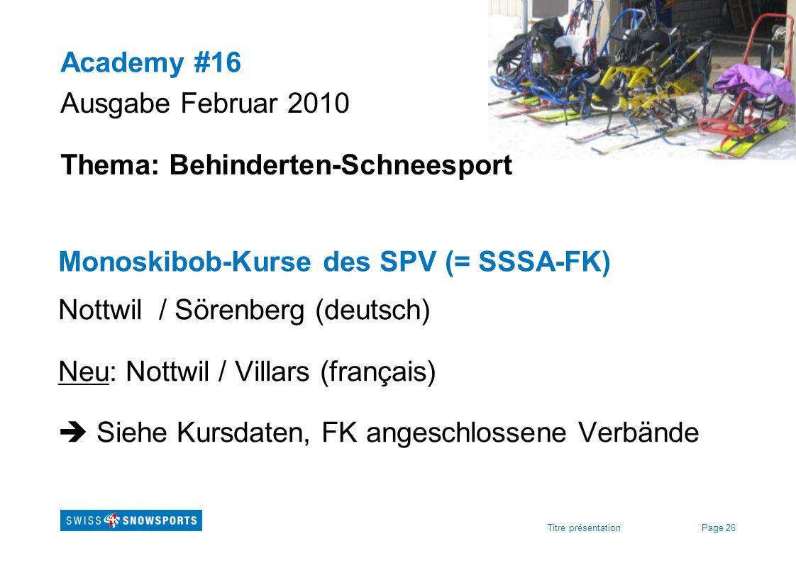 Thema: Behinderten-Schneesport