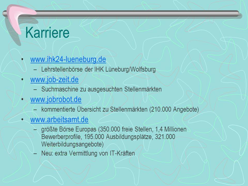 Karriere www.ihk24-lueneburg.de www.job-zeit.de www.jobrobot.de